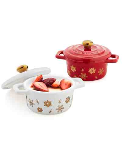 Macy's: Martha Stewart Collection Stoneware Holiday Cocottes, $17.49 ($50)