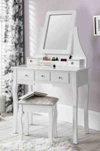 WAYFAIR: Coralino Vanity Set with Stool and Mirror $182.99 At Reg.$235.99