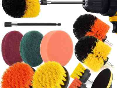 Amazon: 12 Pcs Power Scrubber Drill Brush Set $14.4 ($32)