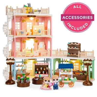 Best Choice Products: Deluxe Cottage Dollhouse Mansion Pretend Toy Playset, Just $44.99 (Reg $69.99)