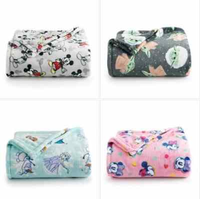 Kohl's: Disney's The Big One® Oversized Supersoft Printed Plush Throw, Just $9.99 (Reg $29.99)