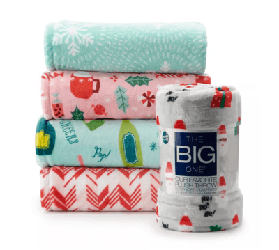 Kohl's: The Big One Supersoft Plush Throw ONLY $8 + FREE Pickup (Reg $30) – Many Colors!