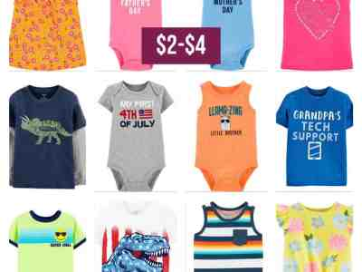 Carter's: Save up to extra 50% OFF Tees, Bodysuits, Shorts and Much More