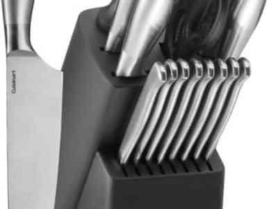 BESTBUY: Cuisinart 17 PC Artiste Knife Block Set - Silver $59.99 At Reg.$129.99