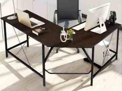 Amazon: KingSo L Shaped Desk Computer Desk 59 x 59 inch for $64.99