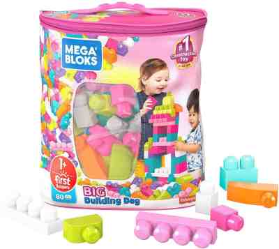 Amazon: Mega Bloks First Builders Big Building Bag with Big Building Blocks 80 Pieces Only $10.47 (Reg. $19.99)