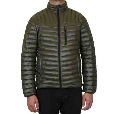 JANE: Men's Slim Fit Puffer Bubble Jacket With Trim Design For $29.99 At Reg.$89.00 More Colors