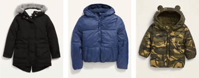 Old Navy: 50% OFF on Hooded Jackets For Kids