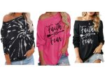 Amazon: Off Shoulder Casual Loose Tops for $16.19 (Reg. Price $26.99)