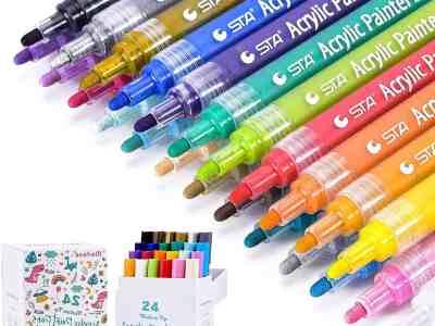 Amazon: 24 Pcs Acrylic Paint Pens for $12.49 Shipped! (Reg. $24.99)