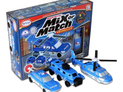 Zulily: Magnetic Mix or Match Police Vehicle Set Now $15.99