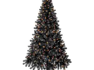 Walmart: Holiday Time Pre-Lit Madison Black Artificial Christmas Tree, 6.5' for $39.00