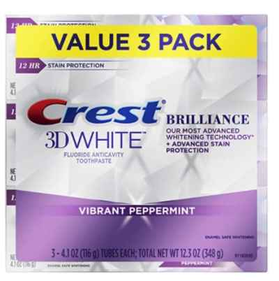 Amazon: White Brilliance Vibrant Peppermint Teeth Whitening Toothpaste for $12.93 (Reg. Price $19.99)