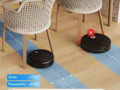 Amazon: Automatic Robotic Vacuum Cleaner Small Body for $69.49