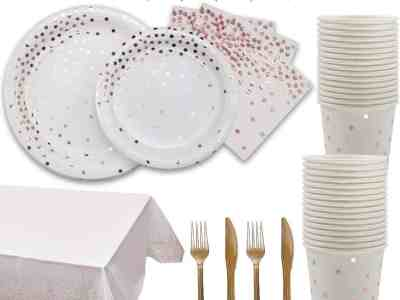 Amazon: Rose Gold and White Party Supplies for $13.19 (Reg. Price $21.99) after code!