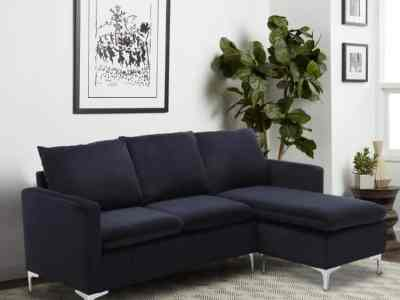 Home Depot: Black Velvet 3-Seater L-Shaped Reversible Sectional Sofa $441.00 (Reg $812.89)