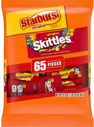 Amazon: SKITTLES & STARBURST Halloween Candy Fun Size Variety Mix, Just $6.73 (Reg $8.98) via Sub&Save with coupon!