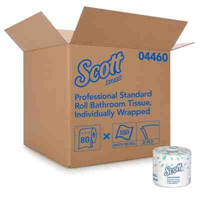 Amazon: Scott Essential Professional Bulk Toilet Paper, 2-PLY, White, 80 Rolls, Just $54.38 (Reg $110.00)
