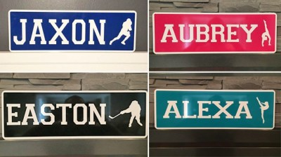 Jane: Personalized Metal Sport Signs JUST $14.99 + FREE Shipping (Regularly $20)