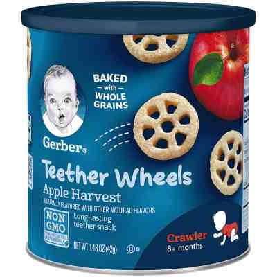 Amazon: 6 Pack Gerber Teether Wheels, Apple Harvest, 1.48 oz for $11.81 Shipped!