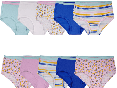 Amazon: Fruit of the Loom Girls' Cotton Brief Underwear, 10Pack Just $5.00