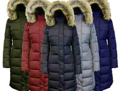 JANE: Women's Heavyweight Long Puffer Jacket With Fur Hood For $59.99 At Reg.$215.00