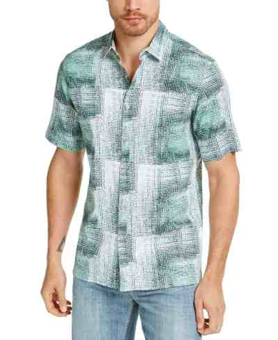 Macy's: Alfani Men's Refraction Graphic Linen Shirt for $9.96 + Free Store Pickup! (Reg. $60.00)