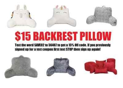 Kohl's: Backrest Pillows for $15.30 with code (Reg $29.99)
