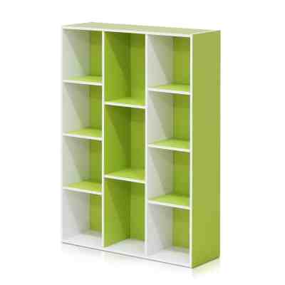 Walmart: Furinno 11-Cube Reversible Open Shelf Bookcase, White/Green $44.98 + Free shipping Reg.$57.00