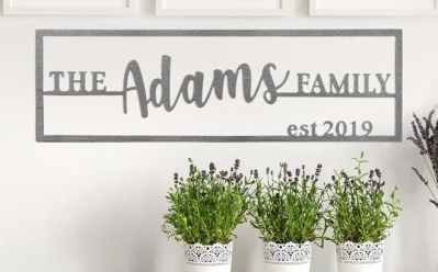 Jane: Custom Family Name Plaque JUST $21.99 + FREE Shipping (Regularly $70)