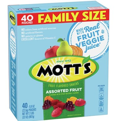 Amazon: 40 Count Mott's Fruit Snacks Medleys Assorted for $4.24 (Reg. Price $4.99)