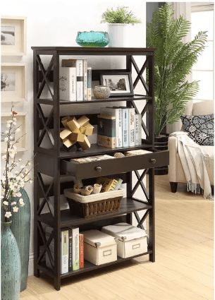 "Target: 59.75"" Oxford 5 Tier Bookcase with Drawer Espresso Only $75.00 (Reg. $172.99)"