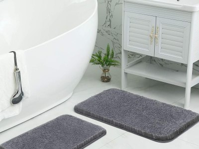 Amazon: Bathroom Rugs Mats Set, 2 Piece 50% Off W/Code