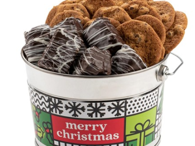 Woot: David's Cookies Merry Christmas Cookies & Brownie Bucket for $24.99
