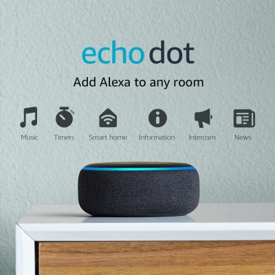 Amazon: Echo Dot (3rd Gen) – Smart speaker with Alexa – Charcoal for $18.99 (Reg.Price $39.99)