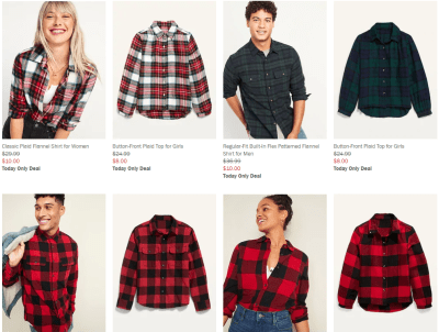 Old Navy: Flannel Shirts for Kids and Adults are on SALE!