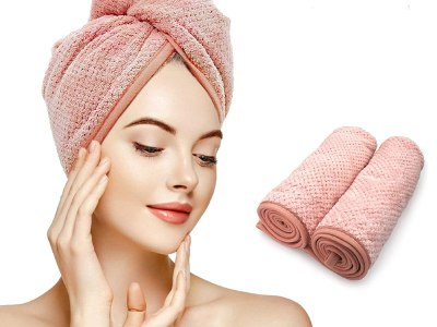 Amazon: Hair Towel Wrap, Hair Drying Towel with Button 2 Pack - 60% Off Code