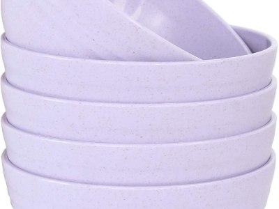 Amazon: Lightweight Unbreakable Kids Bowls, Purple for $5.50