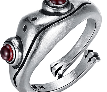 Amazon: 30% OFF* Lroplie Frog Rings Sterling Silver FROM $9.99–$6.99