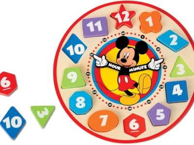 AMAZON: Melissa & Doug Mickey Mouse Wooden Shape Sorting Clock ONLY $6.97