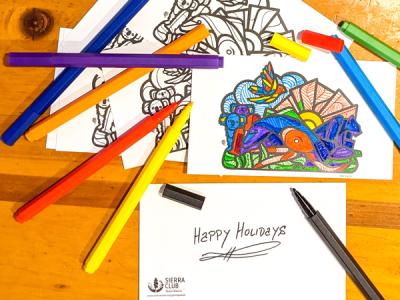 3 FREE 3 Mas Unidos Coloring Postcards!