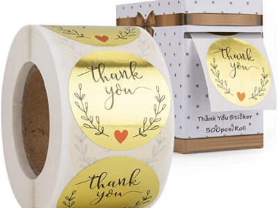 Amazon: 1.5Inch Thank You Stickers, 500 for $2.99