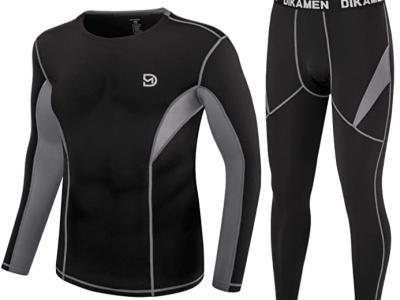Amazon: DIKAMEN Men's Thermal Underwear for $16.19-17.39