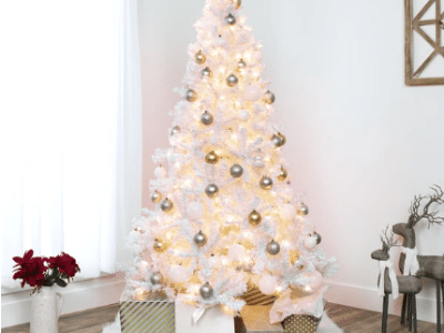 BCP: 6ft Pre-Lit Hinged Artificial Pine Christmas Tree w/ 250 Lights for $84.99 (Reg. $109.99)