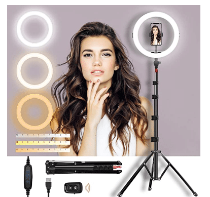 "Amazon: Selfie Ring Light 11"" - 50% off W/Code"