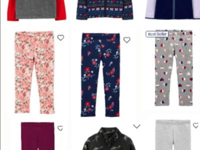 OshKosh: Cozy Fleece Legging & Sweatshirts, Starting from $5.00