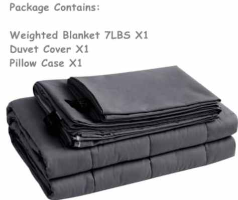 Amazon: Set of 3 Kids Cooling Cotton Weighted Blanket for $34.77-$48.41 (Reg. Price $124.18-$172.90) at checkout!