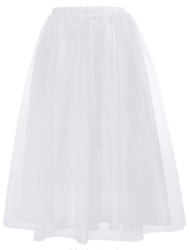 Amazon: Women's Gothic 2-Layer Knee Length Party Skirt for only $7.00 W/Code (Reg. $19.99)