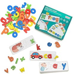 Amazon: Wooden See and Spell Matching Letter Puzzles for $6.79 (Reg. Price $16.99) after code and coupon!