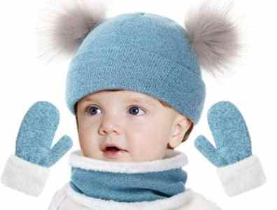 Amazon: 3 PCS Baby Winter Scarf, Hats and Mittens Set for $4.29